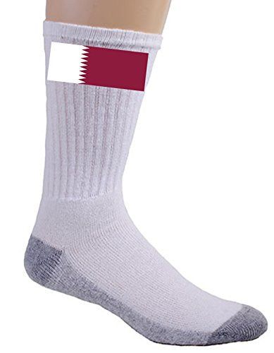 Qatar - World Country National Flags - Crew Socks