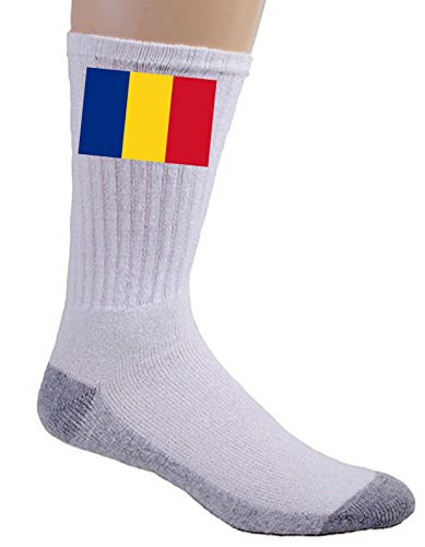 Romania - World Country National Flags - Crew Socks