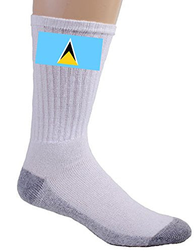 Saint Lucia - World Country National Flags - Crew Socks