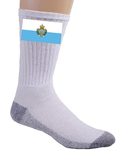 San Marino - World Country National Flags - Crew Socks