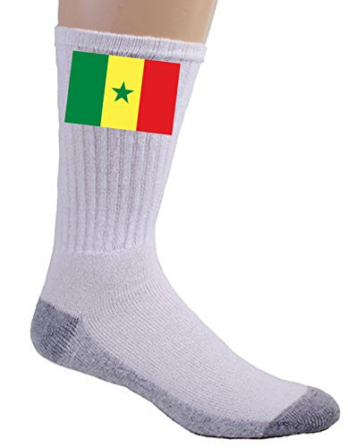 Senegal - World Country National Flags - Crew Socks
