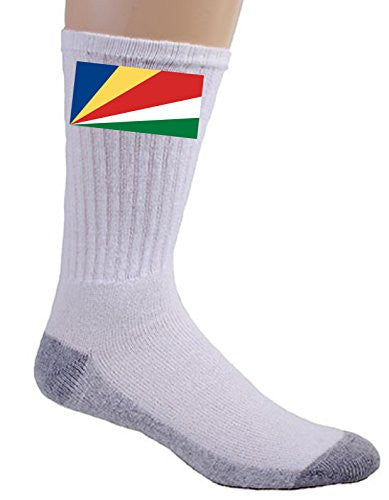 Seychelles - World Country National Flags - Crew Socks