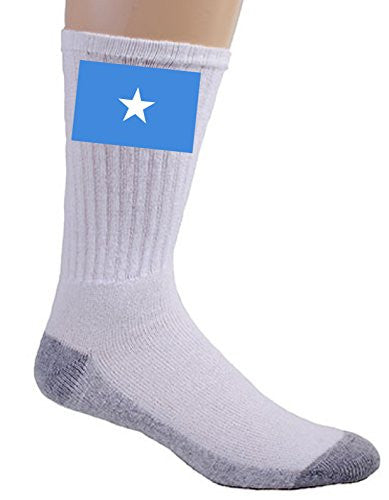 Somalia - World Country National Flags - Crew Socks