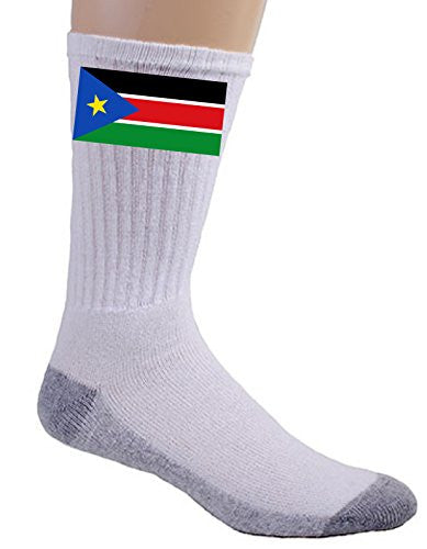 South Sudan - World Country National Flags - Crew Socks