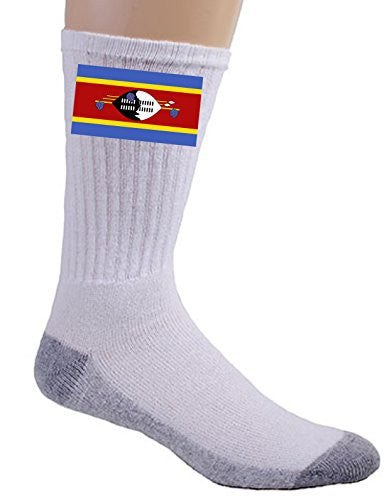 Swaziland - World Country National Flags - Crew Socks