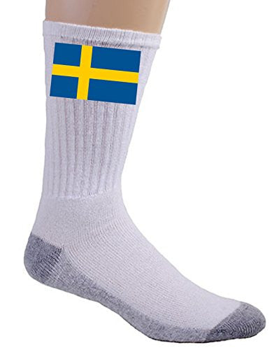 Sweden - World Country National Flags - Crew Socks