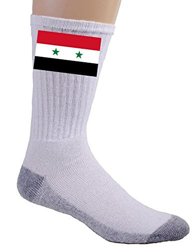 Syria - World Country National Flags - Crew Socks