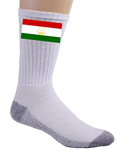 Tajikistan - World Country National Flags - Crew Socks