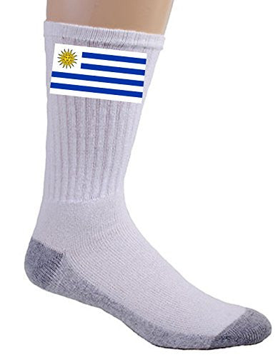 Uruguay - World Country National Flags - Crew Socks