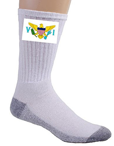 Virgin Islands - World Country National Flags - Crew Socks