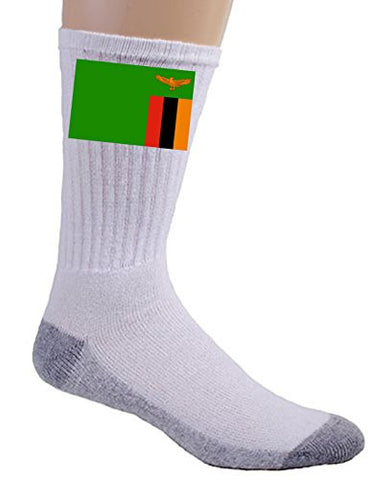 Zambia - World Country National Flags - Crew Socks
