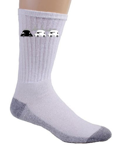 'On The Road' Funny Space Movie Parody Motorcade - Crew Socks