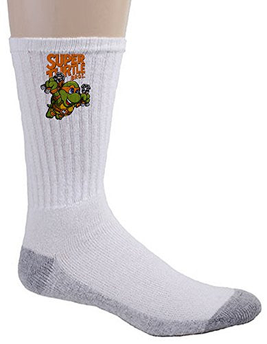 Crew Socks - Super Turtle Bros Mikey - Parody Design