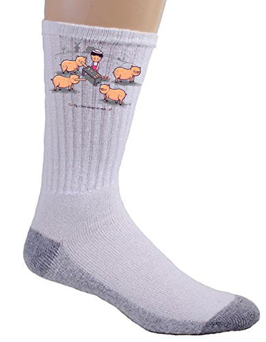 'How Sausages Are Made' Pig Farm Humor - Crew Socks