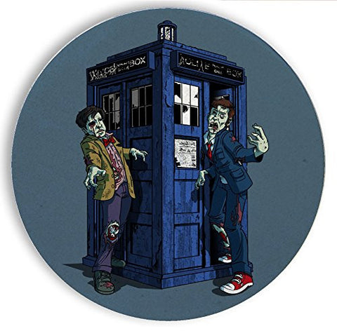 Ceramic Stone Coaster Coasters Set of Four - 'Doctor Zombies' TV Show Parody