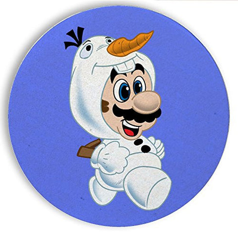 Ceramic Stone Coaster Coasters Set of Four - 'Snowman Plumber' Movie & Game Parody
