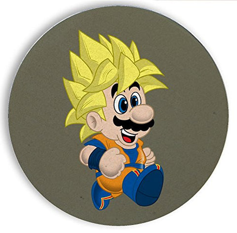 Ceramic Stone Coaster Coasters Set of Four - 'Toilet Plunger Z' Anime & Game Parody