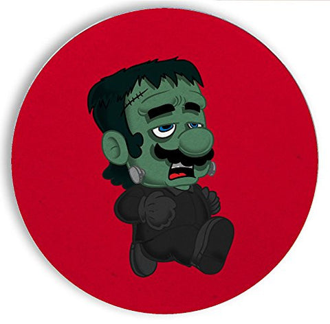 Ceramic Stone Coaster Coasters Set of Four - 'Frankenplumber' Movie & Game Parody