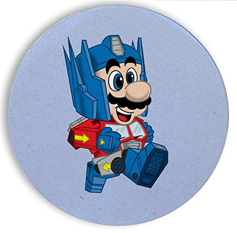 Ceramic Stone Coaster Coasters Set of Four - 'Plumbtimus Prime' Movie & Game Parody