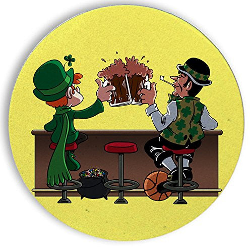 Ceramic Stone Coaster Coasters Set of Four - 'Irish Drinking Buddies' At Famous Bar