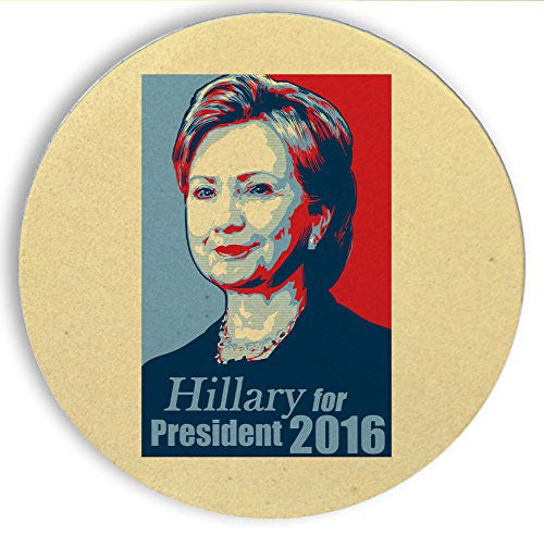 Ceramic Stone Coaster Coasters Set of Four - 'Hillary For President 2016'