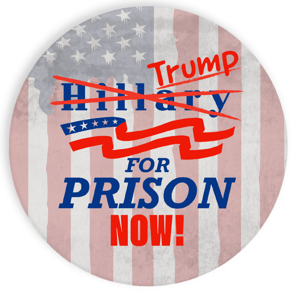 Ceramic Stone Coaster Coasters Set of Four - Trump for Prison Now! Presidential Parody Design