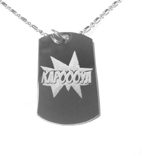 Kapooya Video Internet Sensation Hail Storm Report Interview Logo Symbol - Military Dog Tag, Luggage Tag Metal Chain Necklace