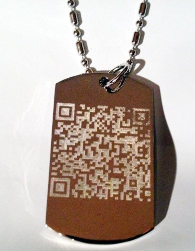 Geek Nerd Computer Smart Tag Phone Novelty Logo Symbols - Military Dog Tag Luggage Tag Key Chain Metal Chain Necklace