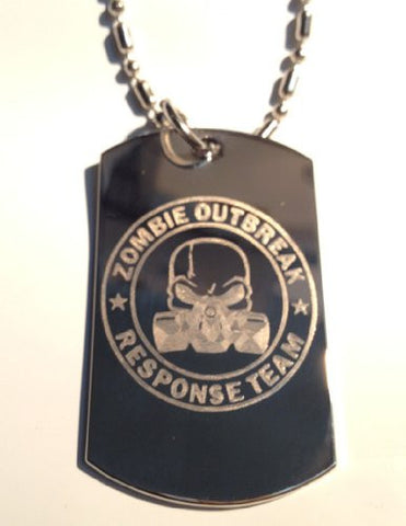 Metal Ring Key Chain Zombie Response Team Unit Alien Face Gas Mask Biohazard Engraved Logo