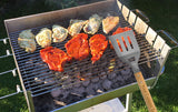 "Customized Laser Engraved Custom Personalized 3 Piece Wooden Barbeque Tool Set -""Your Custom Text and or Logo Here"""