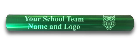 Custom Green Aluminum Track and Field Relay Baton Personalized Gift - Your Team Name and Logo Engraved