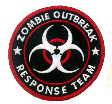 Zombie Outbreak Response Team Biohazard Logo Novelty Iron On Patch Applique