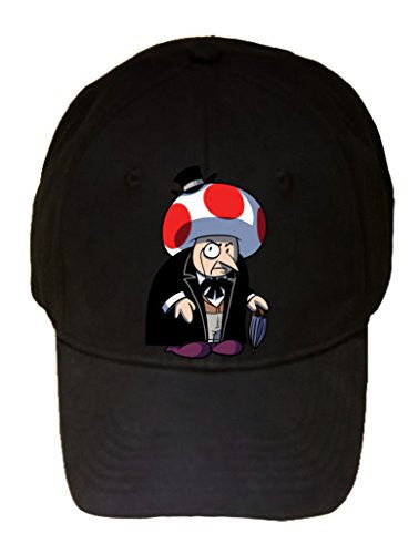 Short Fat Mobster Villain Video Game & Bat Super Hero Parody - 100% Cotton Adjustable Hat