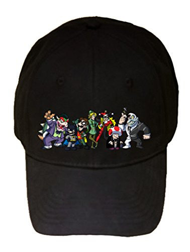 All Character Heroes & Villains Video Game & Bat Super Hero Parody - 100% Cotton Adjustable Hat