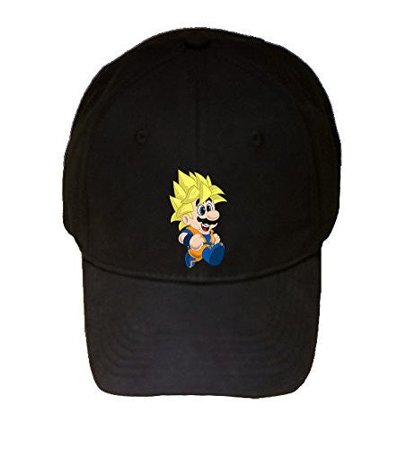 100% Black Cotton Adjustable Hat - 'Toilet Plunger Z' Anime & Game Parody