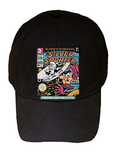 'Silver Smurfer' Cartoon Parody - 100% Cotton Adjustable Hat