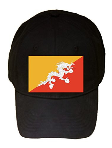 Bhutan - World Country National Flags - 100% Cotton Adjustable Hat