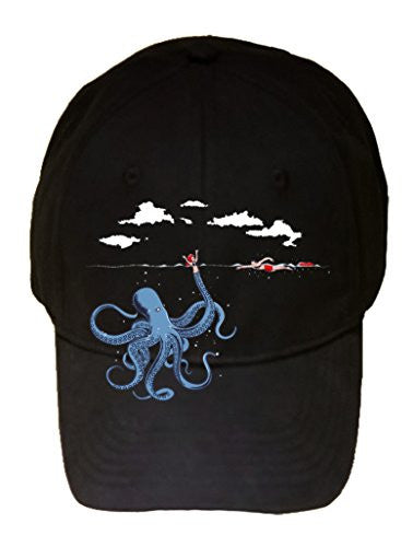 'Octotrap' Funny Octopus Tricking Lifeguard Humor - 100% Adjustable Cap Hat
