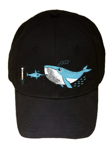 'Barnacle Beard' Whale & Marlin Sword Fish In ocean - Barber - 100% Adjustable Cap Hat