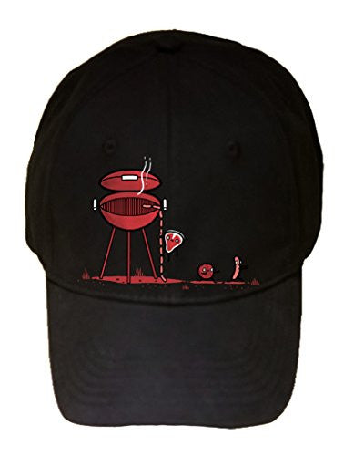 'BBQ Escaped' Meat Running Away - 100% Adjustable Cap Hat
