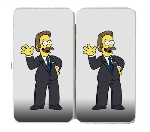 Cartoon TV Show 'President Flanders' Parody of Political TV Show Logo - Taiga Hinge Wallet Clutch