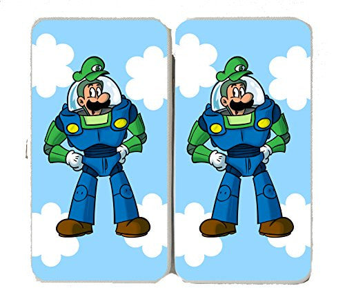 'Plumbing Story' Space Hero Character Funny Video Game & Children's Cartoon Movie Parody - Taiga Hinge Wallet Clutch