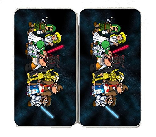 'Plumbing Wars Group' All Characters Funny Video Game & Space Movie Parody - Taiga Hinge Wallet Clutch