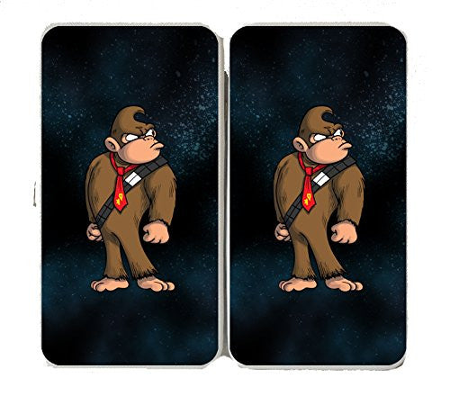 'Plumbing Wars' Hairy Bear Animal Character Funny Video Game & Space Movie Parody - Taiga Hinge Wallet Clutch