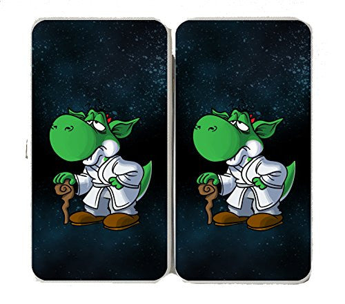 'Plumbing Wars' Wise Alien Hero Character Funny Video Game & Space Movie Parody - Taiga Hinge Wallet Clutch