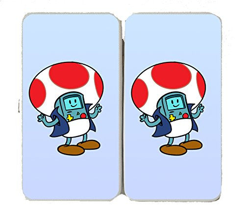 'Plumbing Time' Mushroom Robot Console Character Funny Video Game & TV Show Cartoon Parody - Taiga Hinge Wallet Clutch