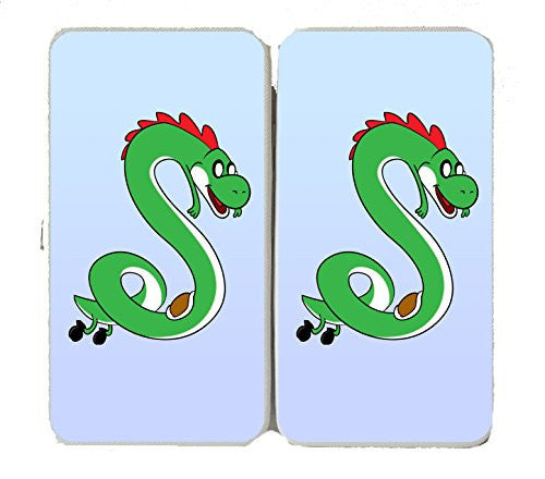 'Plumbing Time' Snake Creature Character Funny Video Game & TV Show Cartoon Parody - Taiga Hinge Wallet Clutch