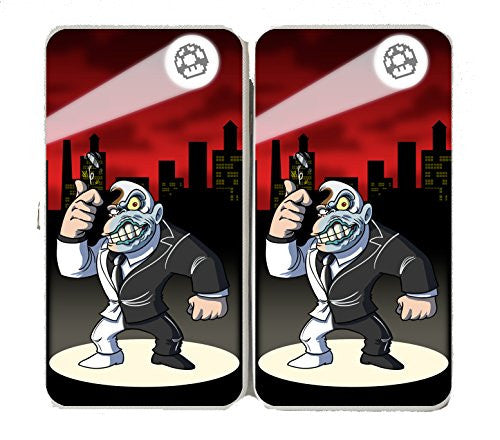 Disfigured Face Villain Video Game & Bat Super Hero Parody - Taiga Hinge Wallet Clutch