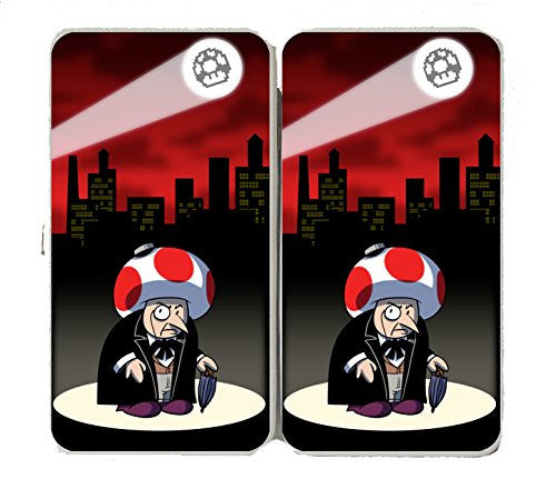 Short Fat Mobster Villain Video Game & Bat Super Hero Parody - Taiga Hinge Wallet Clutch