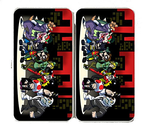 All Character Heroes & Villains Video Game & Bat Super Hero Parody - Taiga Hinge Wallet Clutch